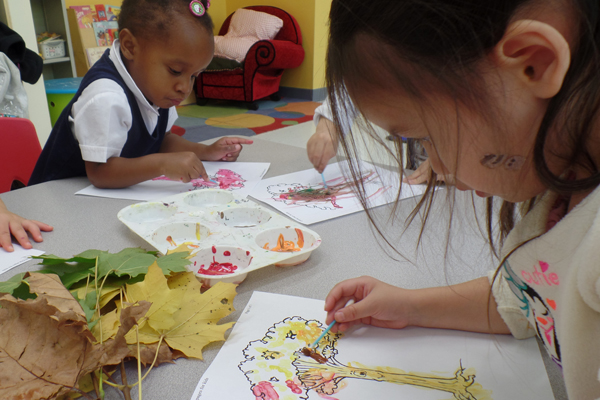 early childhood nature art
